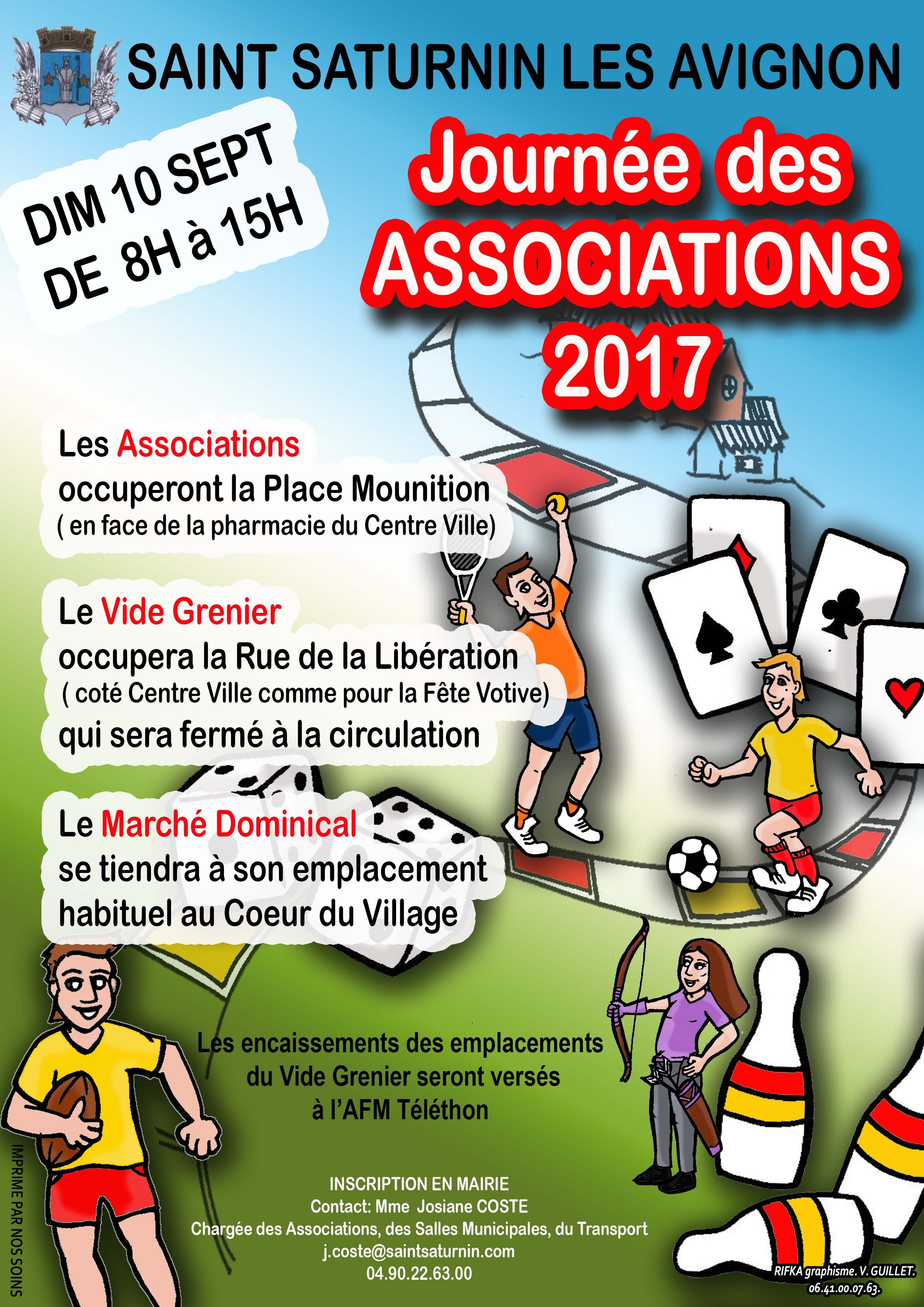 affiche journée des associations 2017