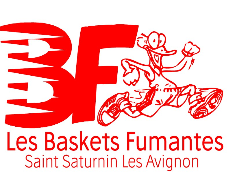 baskets fumantes complet logo canard rouge